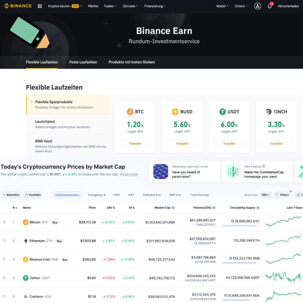 Mit Bitcoin Geld verdienen auf Binance