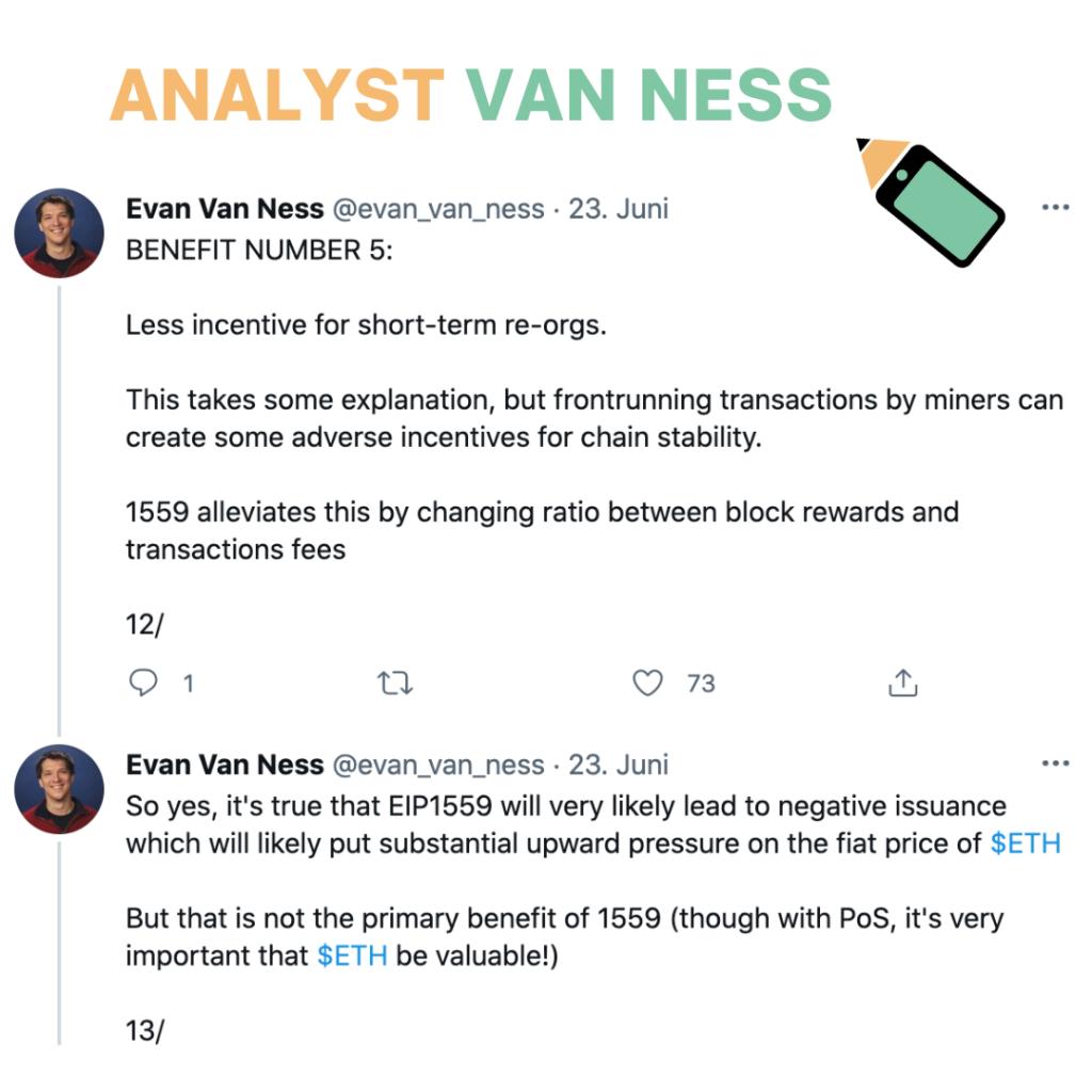 Analyst Van Ness EIP 1559 ethereum update